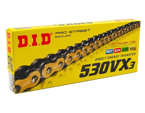 DID Enduro Kette 520 VX3 Gold X-Ring
