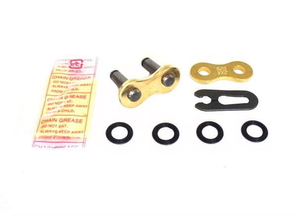 DID Clipschloß für Kette 520 VX2 Gold X-Ring